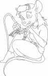 1girls gadget martin_hamsy repair sit sketch soldering-iron tongue // 819x1280 // 123.4KB