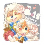 2boys bell button chip congratulation cosplay dale horn ribbon umintsu wool // 1024x1039 // 1.1MB