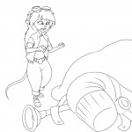 1girls belt gadget invention martin_hamsy rangerplane shoes sketch // 1280x1280 // 282.7KB