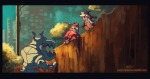 3boys chip dale dog-robot knight_mj palisade town // 900x479 // 353.7KB