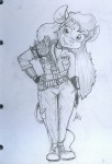 1girls alex_fox crossover fallout gadget military_uniform shoes sketch spikes // 700x1024 // 218.5KB