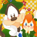 1boys 1girls costume dress gadget goofy hat ribbon tie まみこ // 1200x1200 // 493.3KB