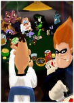 billieh card cigarettes crossover dr._drakken dr._heinz_doofenshmirtz dr._jumba_jookiba drink game glass glue jar kim_possible_(series) lilo_&_stitch norton_nimnul phineas_and_ferb poker shego sit smoke syndrome table the_incredibles // 984x1344 // 1.0MB