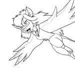 1girls fang flying gadget lineart martin_hamsy mutation open_mouth vampire wings // 800x800 // 153.6KB