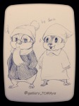 2boys chip coat dale hat scarf shinta sketch sleepwear // 960x1280 // 234.8KB