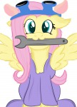 1girls cosplay crossover fluttershy gadget goggles jbond92 my_little_pony overall // 720x1000 // 323.5KB