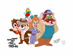 1girls 4boys chip dale embrace flying gadget monterey_jack zacharynoah92 zipper // 3840x2967 // 1.5MB