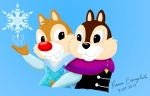 2boys anna arm-in-arm chip cosplay crossover dale elza frozen snowflake themrramonlle // 2020x1299 // 767.5KB