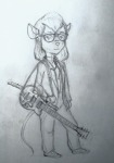1girls gadget glasses guitar jacket onka pants shirt shoes sketch // 350x500 // 43.9KB