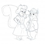 1boys 1girls chip darmann mrs._squirrel sketch // 910x900 // 330.6KB