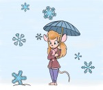 1girls coat gadget scarf scope snowflake umbrella // 1096x965 // 648.7KB