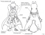 assasin belt cloak sketch tammy toni // 432x337 // 29.9KB