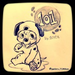 101_dalmatians 1boys cosplay crossover dale shinta sketch sleepwear // 1224x1224 // 335.0KB