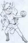 1girls alex_fox angry boots claws cloak cosmetics earring gadget gloves halloween horn pendant pumpkin shorts sketch vampire wings // 500x768 // 123.4KB
